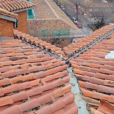 estado original de tejado con teja curva
