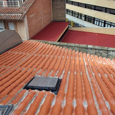 Estado reformado de la cubierta del edificio comunitario IV