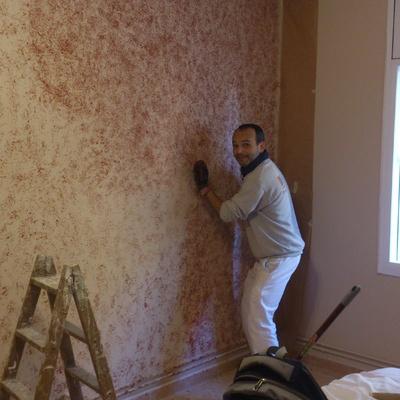 Estampado de pared de dormitorio