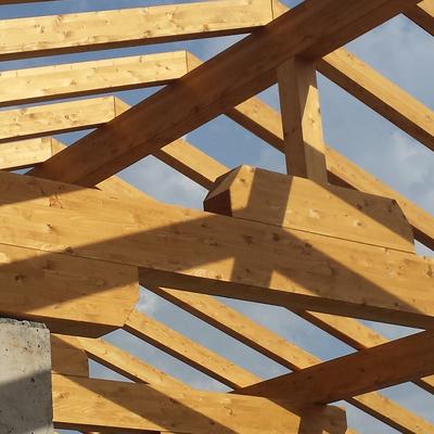 Estructura mixta hormigón madera