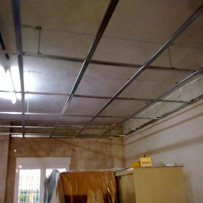 Estructura para techo pladur