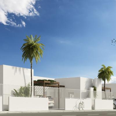 Estudio CGM Infografías. Render 4 viviendas con piscina. La Alfoquía, Almería 3