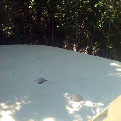 exteriores y piscina  despues  de aplicar micro cemento