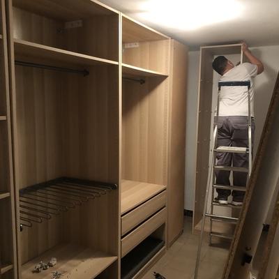 Montando vestidor
