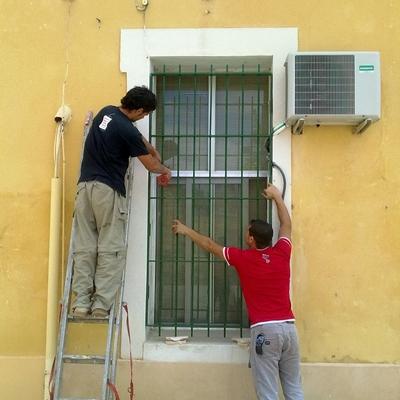 Fabricación y  colocación de reja de seguridad