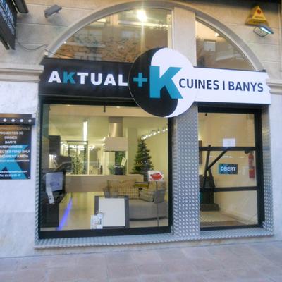 façana botiga AKTUAL CUINES I BANYS