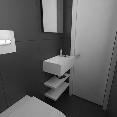 Reforma de baño en tonos blancos y negros