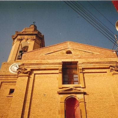 Fachada Iglesia Urrea de Gaen Antes