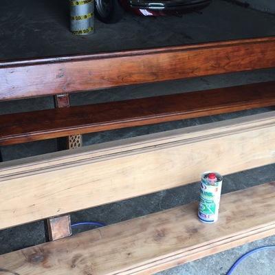 Barnizado de bancos madera