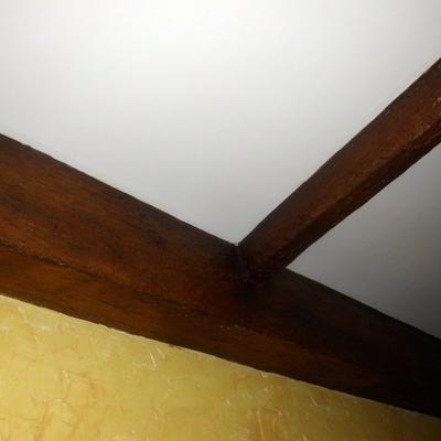 falsas vigas de madera