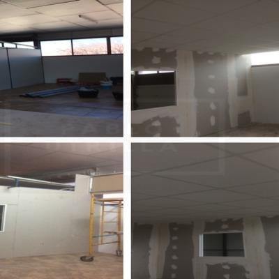 Tabiques, trasdosados y techo registrable acústico