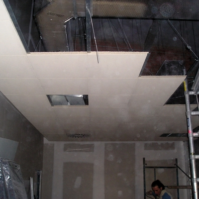 Falso techo rejistrable