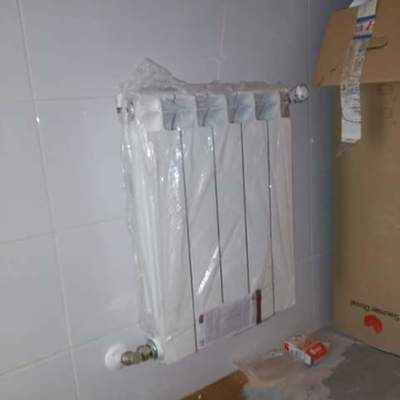 punto de radiador en calefaccion empotrada