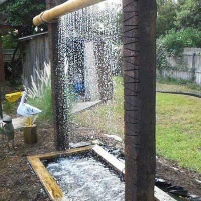 Fuente en bambu