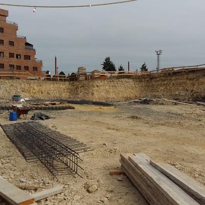 Obra  nueva  42 viviendas  cimentaciónes