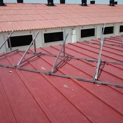 Estructura para paneles sobre tejado