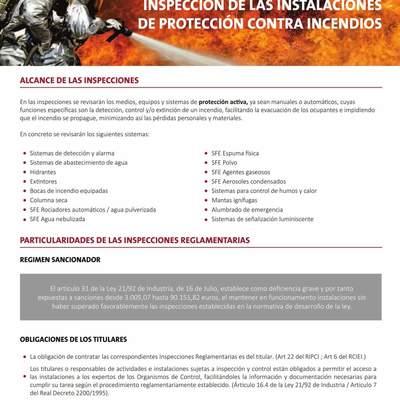Inspecciones técnicas contra incendios