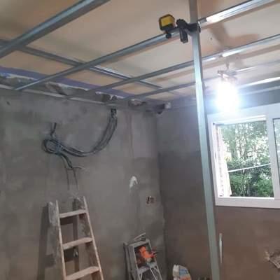 Reforma techo cocina Cardedeu antes