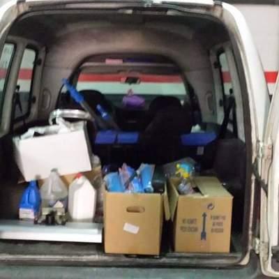 Materiales en uno de nuestros vehiculos