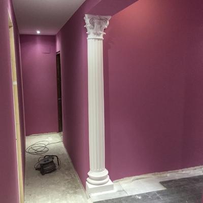 pasillo columna escayola