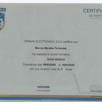 Certificado de FERMAX
