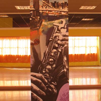 Decoración mural academia de baile