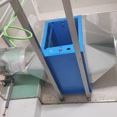 Instalación de filtro Electrostático de conducto.