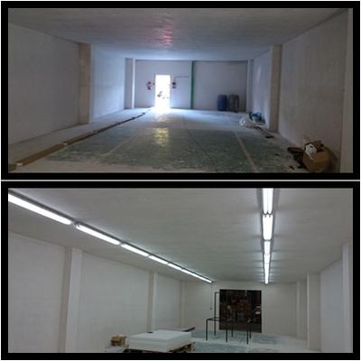 Instalación de fluorescentes LED