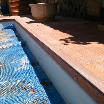Formación de borde de piscina