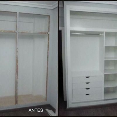 Forrado de interior de armario en melamina blanca