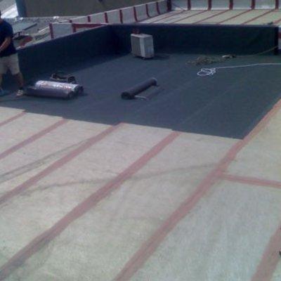 Forrar terrassa amb tela de pissarra 2