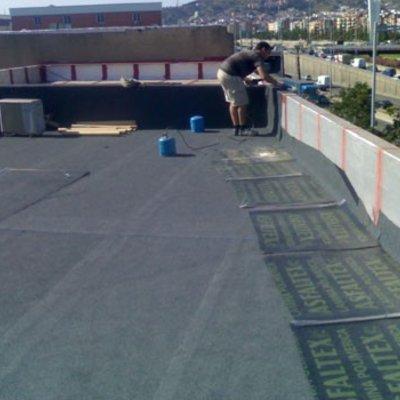 Forrar terrassa amb tela de pissarra 3