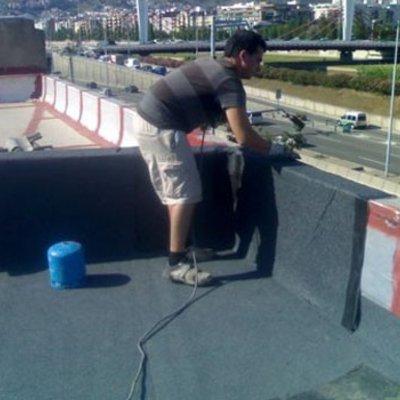 Forrar terrassa amb tela de pissarra 4