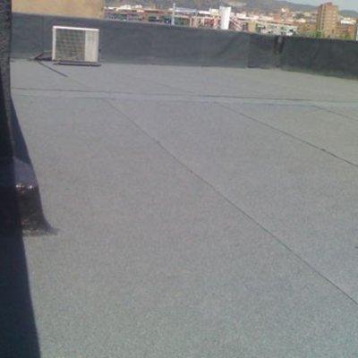 Forrar terrassa amb tela de pissarra Finalitzat