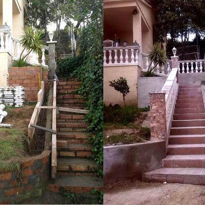 Forrat escala i col·locació de balustrada