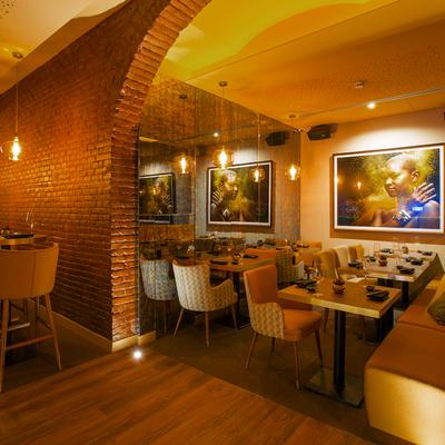 Arco de salón en restaurante