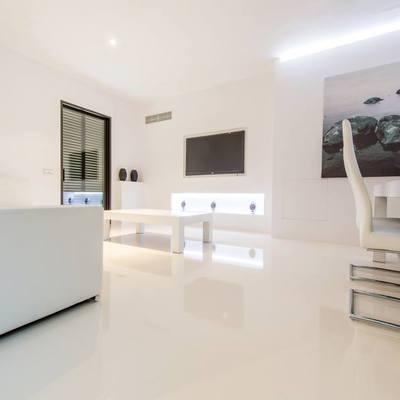 foto 4MM_decoración de micro cemento comedor interior