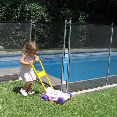 BabySecur Valla para piscina Gris-Plata
