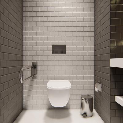 Diseño baño oficinas Shades Vista 1