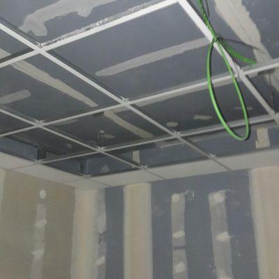 Tabique fónico, techo fónico, tradorsado normal y techo registrable