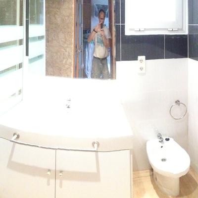 Foto panorámica baño