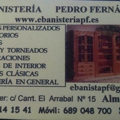 tarjeta www.ebanisteriapf.es