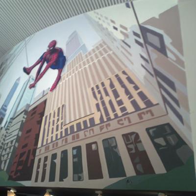 Mural spiderman