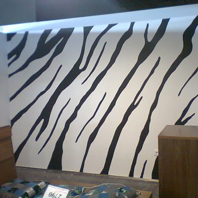 Rayas de cebra pintadas