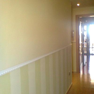 Rayas pintadas terminacion moldura PVC