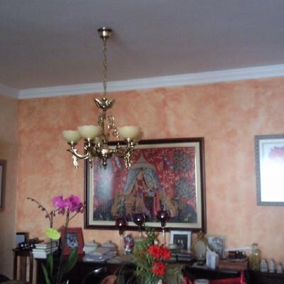 Pátinas decorativas en salón