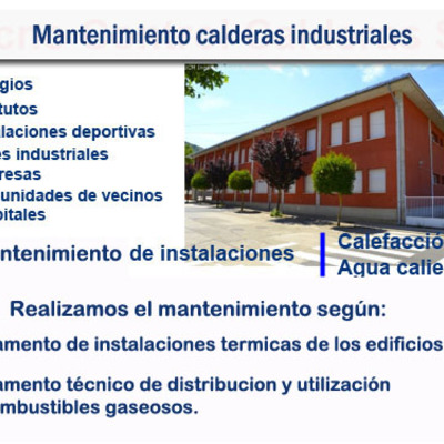 Mantenimiento de calderas en Colegios, institutos, Naves etc