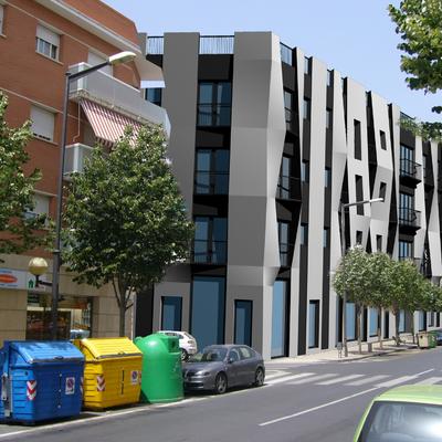 Edificio viviendas en Reus - croquis