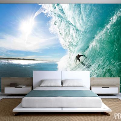 Fotomural con un surfista