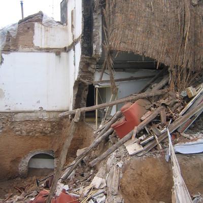 Hundimiento de una casa en Chinchón